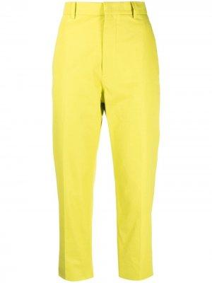 Sofie Dhoore укороченные брюки строгого кроя D'hoore. Цвет: желтый