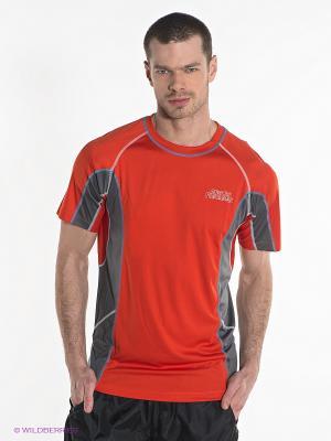 Футболка Alpine PRO. Цвет: красный, серый
