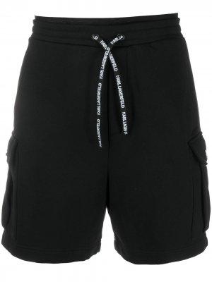 Спортивные шорты с логотипом Karl Lagerfeld. Цвет: черный