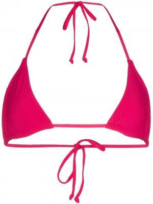 Лиф бикини Tia с треугольными чашками Frankies Bikinis. Цвет: розовый