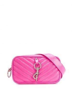 Поясная каркасная сумка Rebecca Minkoff. Цвет: розовый