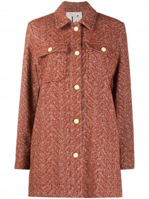 LAutre Chose пальто с узором в елочку L'Autre. Цвет: оранжевый