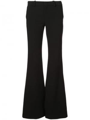 Расклешенные брюки с классической талией Alexis. Цвет: черный