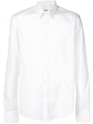 Рубашка узкого кроя Daniele Alessandrini. Цвет: белый