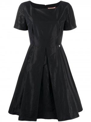 Приталенное платье мини Twin-Set. Цвет: черный