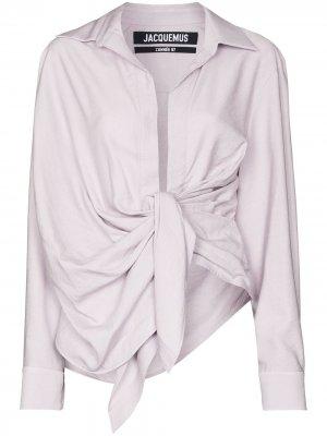 Драпированная блузка Le Bahia Jacquemus. Цвет: фиолетовый