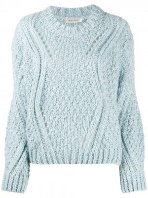 Джемпер крупной вязки с длинными рукавами Stine Goya. Цвет: синий