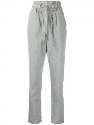 Зауженные брюки с завышенной талией Isabel Marant Étoile. Цвет: серый