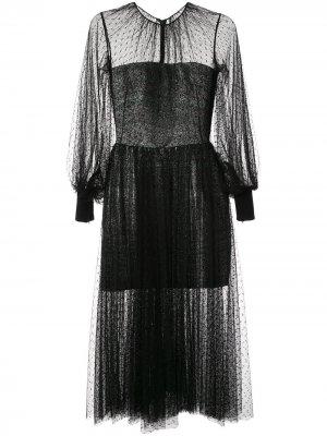 Сетчатое коктейльное платье Saiid Kobeisy. Цвет: черный