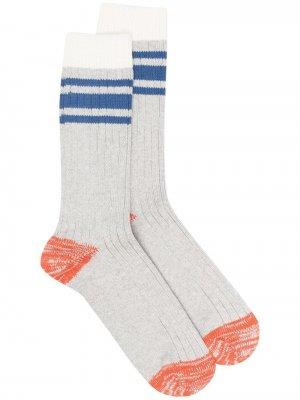 Носки в полоску THUNDERS LOVE. Цвет: серый