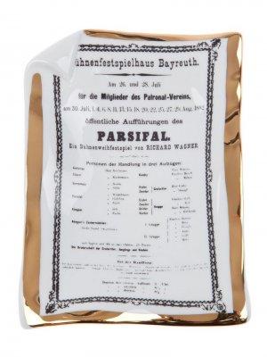 Пепельница Parsifal Fornasetti. Цвет: белый