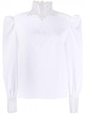 Блузка с английской вышивкой Christopher Kane. Цвет: белый