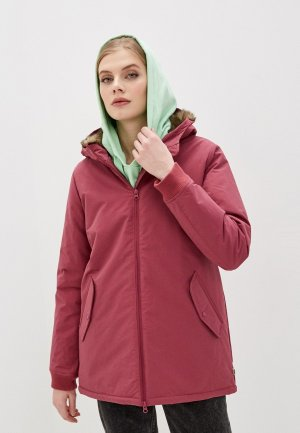 Куртка утепленная Vans. Цвет: бордовый