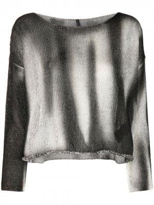 Укороченный джемпер с принтом тай-дай Pierantoniogaspari. Цвет: черный
