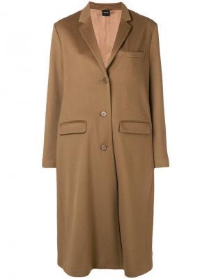 Однобортное пальто Aspesi. Цвет: коричневый