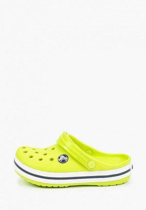 Сабо Crocs. Цвет: зеленый