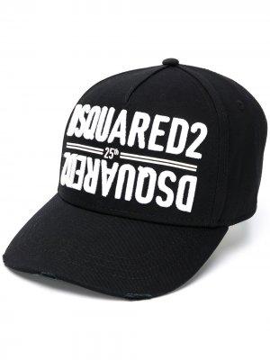 Кепка с вышитым логотипом Dsquared2. Цвет: черный