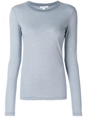 Slim fit jersey top James Perse. Цвет: серый