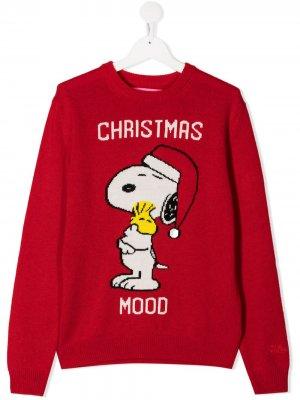 Джемпер Snoopy вязки интарсия Mc2 Saint Barth Kids. Цвет: красный