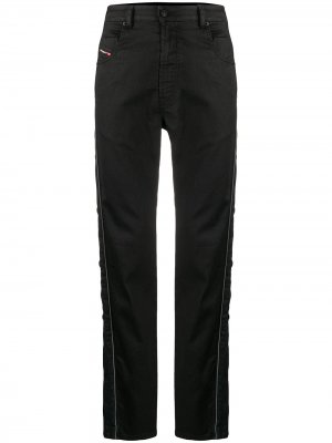 Зауженные джинсы Diesel. Цвет: черный