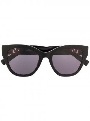 Солнцезащитные очки Berlin I/G в квадратной оправе Max Mara. Цвет: черный