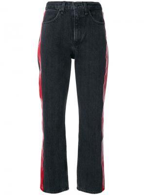 Укороченные джинсы с полосками по бокам Rag & Bone /Jean. Цвет: черный