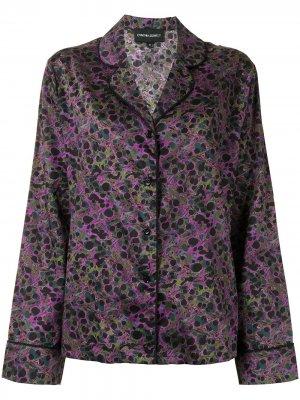 Пижамная рубашка с принтом Cynthia Rowley. Цвет: фиолетовый