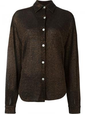 Рубашка с отделкой металлик Jean Paul Gaultier Vintage. Цвет: коричневый