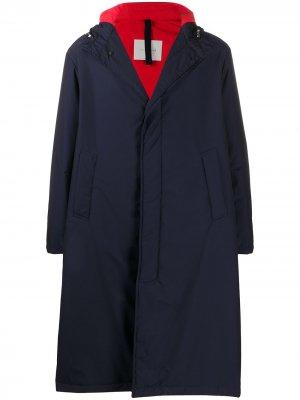 Парка Firenze с капюшоном Mackintosh. Цвет: синий