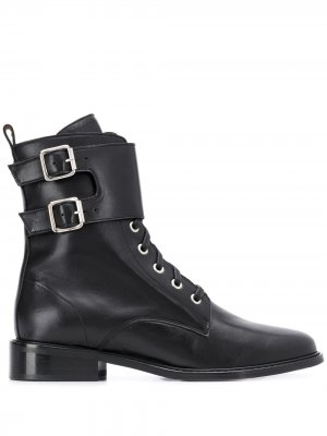 Ботинки Como с ремешками и пряжками Ba&Sh. Цвет: черный