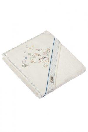 Банное полотенце с уголком BEBITOF BABY. Цвет: голубой