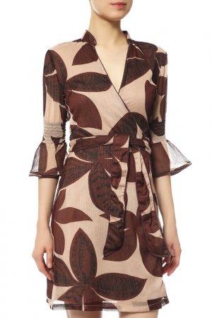 Платье Almatrichi. Цвет: коричневый