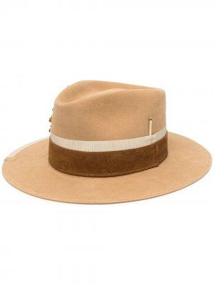 Шляпа-федора Rochas Nick Fouquet. Цвет: коричневый
