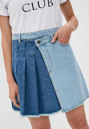 Юбка джинсовая McQ Alexander McQueen. Цвет: разноцветный