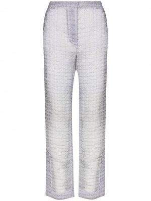 Полупрозрачные расклешенные брюки Elisabeth Cecilie Bahnsen. Цвет: серый