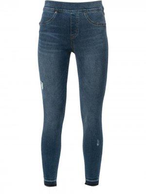 Distressed-ankle skinny jeans Spanx. Цвет: синий