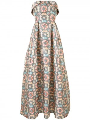 Платье Lianna с геометричным принтом Sachin & Babi. Цвет: черный