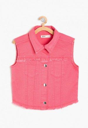 Жилет джинсовый Koton. Цвет: розовый