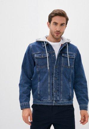 Куртка джинсовая Zolla. Цвет: синий