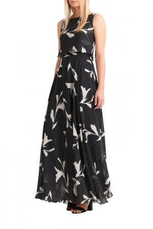 Шифоновое платье Apart. Цвет: черный