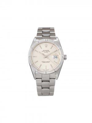 Наручные часы Date pre-owned 34 мм 1993-го года Rolex. Цвет: серебристый