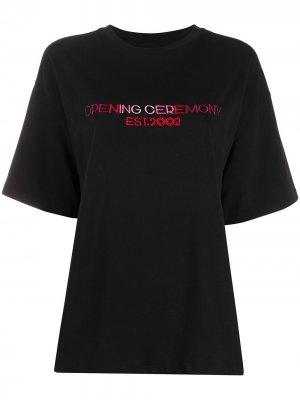 Рубашка свободного кроя с вышитым логотипом Opening Ceremony. Цвет: черный