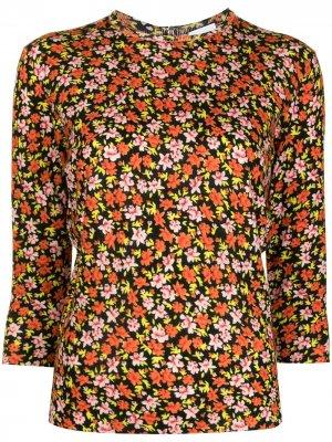 Пуловер с цветочным принтом PAUL SMITH. Цвет: разноцветный