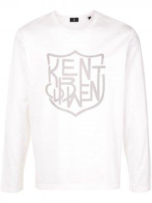 Топ с длинными рукавами и логотипом Kent & Curwen. Цвет: белый
