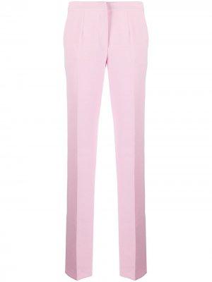 Расклешенные брюки средней посадки Blumarine. Цвет: розовый