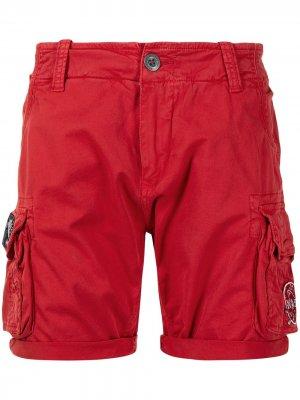 X NASA cargo shorts Alpha Industries. Цвет: красный