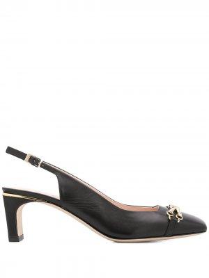 Туфли Decolletè с ремешком на пятке Pollini. Цвет: черный