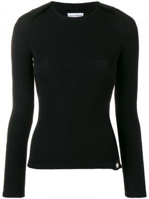 Трикотажный свитер Paco Rabanne. Цвет: черный