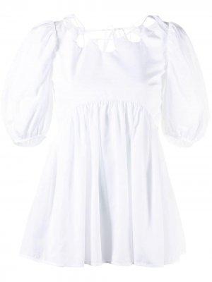 Блузка с вырезами на воротнике Cecilie Bahnsen. Цвет: белый