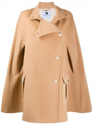 Пальто-кейп Blumarine. Цвет: коричневый